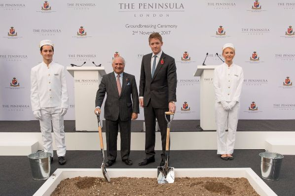 HSH breaks ground on The Peninsula London (GB)