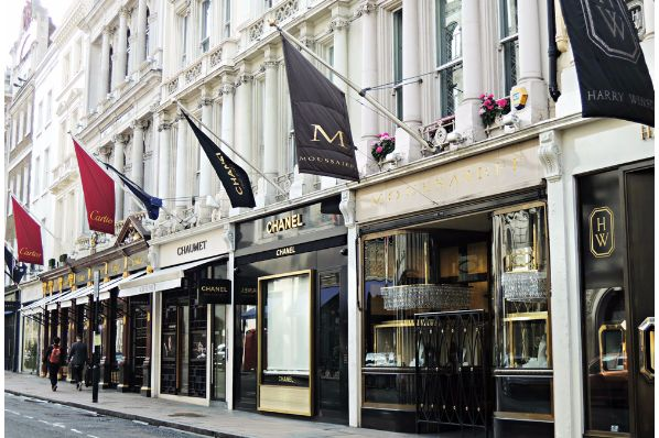 New Bond Street becomes world's third most expensive shopping street