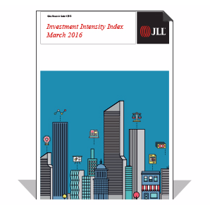 jll investment intensity
