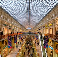 Moscow shopping area