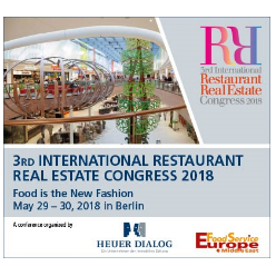 3rd International Restaurant Real Estate Congress 2018