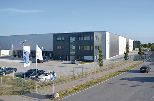 Class-A warehouse facility developed by Panattoni Europe in Germany for Rudolph Logistik Gruppe.